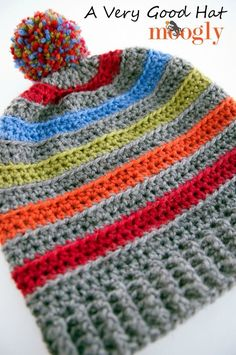 A Very Good Hat: Free #crochet pattern in 6 sizes on Moogly!