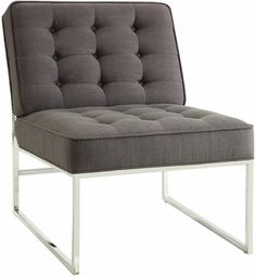 Work Smart Anthony Chair with Chrome Base - Klein Charcoal, ATH51-K26 by Office Star Products | BizChair.com