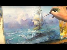 Ocean. The sun's rays through the clouds. Sketch. Marine paintings. - YouTube