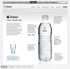 If Apple made water..