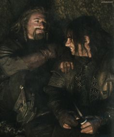 Teasing Mr. Boggins. (A few minutes later yelled at by Thorin) << I wanted to give Thorin a high five for that... they deserved to be yelled at after scaring the poor hobbit out of his wits!