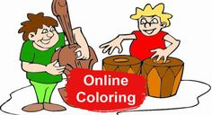Music Online Coloring