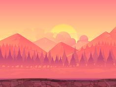 Mountains Landscape by Vitaliy Vill