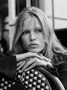 Anna Ewers poses for H&M's fall campaign and shares her hair secrets:
