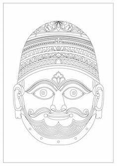 Free Face Mask Coloring Page