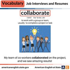 Vocabulary: Job Interviews and Resumes - Collaborate