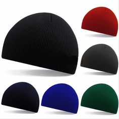 Europe and The United States Fall and Winter Men and Women's Thin Stripes Short Paragraph Ski Cap Knitted Wool Beanies Hat RX057 #Affiliate