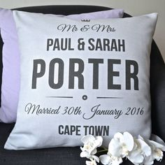 Wedding Mr And Mrs Personalised Cushion Cover