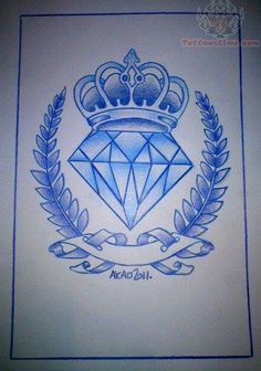 Diamond with a crown