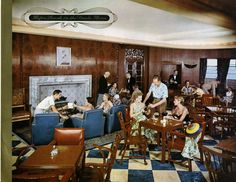 First Class Smoking Room, Union-Castle ships 1950's