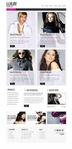 Luxury Fashion Moto CMS HTML Templates by Sawyer