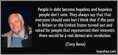 Tony Benn on poverty and power