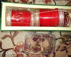 Red Bridal Chura and Kalire