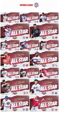 Graphics package for the 2018 MLB All-Star Game. This project was a collaboration effort between Danny Devito and Ethan Woodward. Sports Graphic Design, Sport Design, Graphic Design Trends, Modern Graphic Design, Mlb Wallpaper, Thumbnail Design, Calligraphy Text, Flyer Design Inspiration, Photoshop Pics