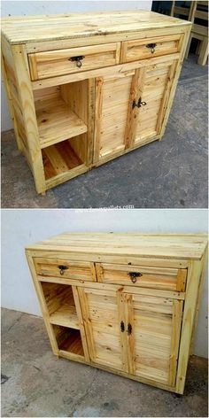 DIY Pallet Wood Furniture Ideas Designed With Reused Material - Fancy Pallets Wood Pallet Recycling, Recycled Pallets, Wooden Pallets, Diy Pallet Projects, Wood Projects, Woodworking Projects, Pallet Ideas, Wood Pallet Furniture, Recycled Furniture