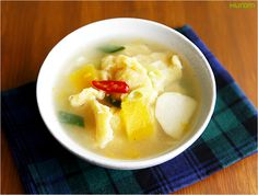 pumpkin sujebi (Korean-Style Pasta Soup)