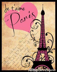 The eiffel tower. paris. ARtsyboutique
