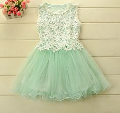 Promotion 2014 Summer Lace Tulle Hollow Out  Dance Dresses For Girl Princess, Kids Cute Wear Wholesale 5pcs/lot, Free Shipping-in Dresses fr...