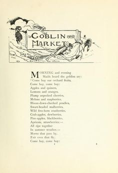 The Goblin Market by Christina Rossetti, illustrated by  Florence Harrison.