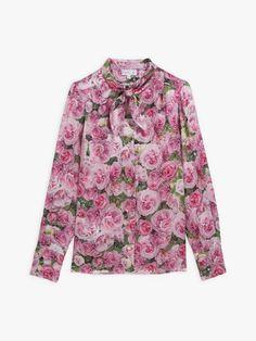 chemise tunique imprimé la rose agnès b. | agnès b. Tunic Shirt, Shirt Dress, Blouse, Rose Shirts, Long Sleeve, Sleeves, Mens Tops, Collection, Fall