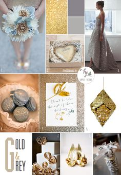 Gold & grey Moodboard Happily factory