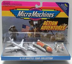 1993 Galoob Micro Machines Scale Miniatures - #19 Shuttle Team This item is NOT in Mint Condition and is in no way being described as Mint or even Near Mint. Our toys have not always lead the perfect