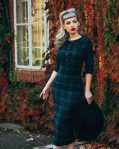 Retro style plaid dress, _missbo