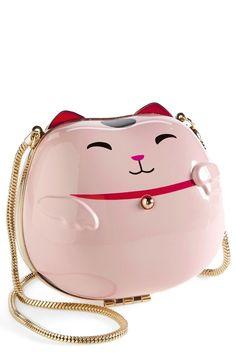 MEOW!!!!! Kate Spade Lucky Cat Clutch Bag #katespade #clutch #bags