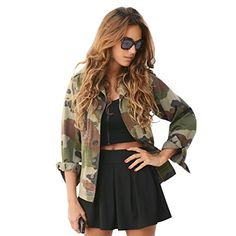 Basic Jackets Escalier 2017 Fashion Women Loose Camouflage Coats Stand Collar Pocket Long Sleeve Button Sweat Breathable Outwear Jacket Rapid Heat Dissipation