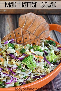This recipe takes coleslaw to a whole other level with the addition of broccoli, top ramen noodles, the seasoning packets and nuts. Great for family get togethers, church potlucks, or barbecues.
