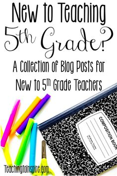 Fifth grade is the best! If you are new to teaching grade, you will definitely want to check out this post for tips, ideas, and resources for teaching grade. 5th Grade Writing, Teaching 5th Grade, 5th Grade Teachers, Fifth Grade Math, 5th Grade Classroom, 5th Grade Reading, 5th Grade Science, Student Teaching, Classroom Ideas