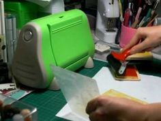 Inking the Embossing Folder
