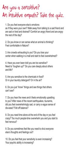 take the sensitive quiz #empath #sensitive