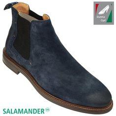Salamander férfi bőr bokacsizma 31-56702-22 sötétkék