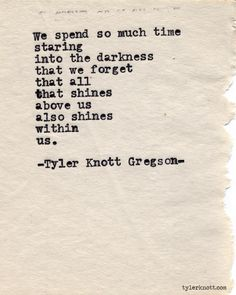 Typewriter Series #398 by Tyler Knott Gregson