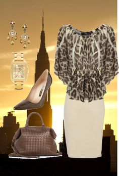 """""""New York Mover and Shaker"""" by linda-schultz-schafer ❤ liked on Polyvore"""