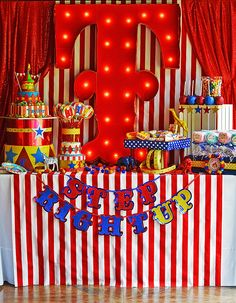 Amazing circus theme birthday party!