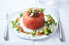 Have a look at our best smoked salmon recipes, from poached egg breakfasts to tarts, salads and canapés. Find more smoked salmon recipes at Tesco Real Food. Christmas Dinner Starters, Dinner Party Starters, Xmas Starters, Salmon Recipes, Seafood Recipes, Appetizer Recipes, Smoked Salmon Terrine, Prawn Starters, Tesco Real Food