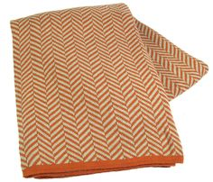 Nice n simple.  5 colorways Fishbone 100% cotton knit machine washable throws made in USA.
