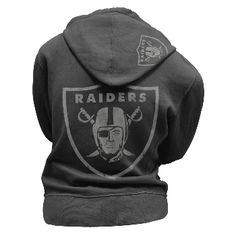 Check out this great looking Oakland Raiders juniors zip up hoodie. This Oakland Raiders hoodie comes in black and has the Raider logo on the back. Awesome high quality material and looks great on.