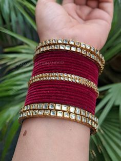 Antique Jewellery Designs, Fancy Jewellery, Stylish Jewelry, Indian Jewellery Design, Fashion Jewelry, Thread Bangles Design, Gold Mangalsutra Designs, Bridal Bangles, Jewelry Design Earrings