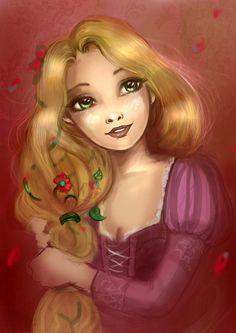 Tangled! Rapunzel painting :)
