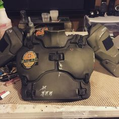 #GalacTacSoldier prototype armor is almost ready to be sent to @ar500armor to get turned into the real thing. @HecklerAndKoch @Sogknives @TeamWendy1 @Armasight @Metalhead_1 #HecklerAndKoch #AR500 #TeamWendy #TEAheadsets #Armasight #Wilcox #Galactac #Metalhead #sogknives