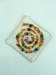 Fused glass spiral