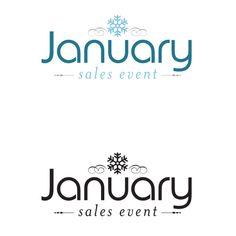 Peddler's Village January Sales Event Logo design