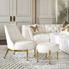Our iconic designer furniture collections evoke mid-century modern design. Find luxury home furnishings to adorn your living room, bedroom, dining room and small spaces. Jonathan Adler, Classic Furniture, Mid Century Modern Furniture, Chair And Ottoman, Upholstered Chairs, Chair Cushions, Swivel Chair, Bedroom With Sitting Area, Comfortable Living Room Chairs