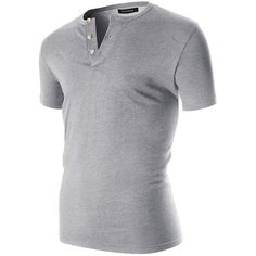 FLATSEVEN Men's Casual Short Sleeve Henley Shirt With Button at Amazon... (530 UAH) ❤ liked on Polyvore featuring men's fashion, men's clothing, men's shirts, men's casual shirts, mens button shirts, mens henley shirts, mens short sleeve button down shirts, mens short sleeve button down casual shirts and mens short sleeve shirts
