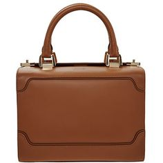 Small Tan Leather Bowling Bag