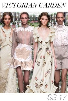 TRENDS // TREND COUNCIL - VICTORIAN GARDEN . SS 2017 More