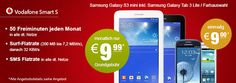 Vodafone Smart S mit Samsung Galaxy S3 mini + Galaxy Tab 3 http://www.simdealz.de/vodafone/vodafone-smart-s-mit-samsung-galaxy-s3-mini-galaxy-tab-3/ Mehr dazu hier: http://www.simdealz.de/vodafone/vodafone-smart-s-mit-samsung-galaxy-s3-mini-galaxy-tab-3/